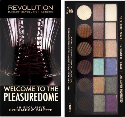 Палитра сенки за очи, 18 цвята - Makeup Revolution Salvation Palette Welcome To The Pleasuredome — снимка N1