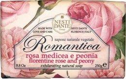 """Парфюмерия и Козметика Сапун """"Флорентинска роза и божури"""" - Nesti Dante Romantica Soap"""
