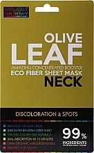 Парфюмерия и Козметика Маска за шия с екстракт от маслинови листа - Beauty Face IST Booster Neck Mask Olive Leaf