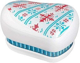 Парфюми, Парфюмерия, козметика Компактна четка за коса - Tangle Teezer Compact Styler Winter Frost