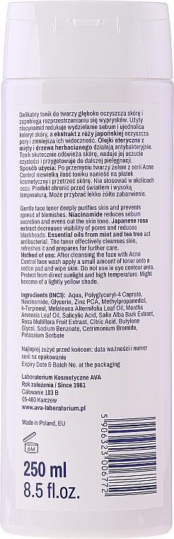 Почистващ тоник за лице - Ava Laboratorium Acne Control Professional Freshwater Cleansing Toner — снимка N2