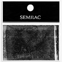 Парфюмерия и Козметика Декориращо фолио за нокти - Semilac 06 Transfer Nagelfolie Semilac Black Lace