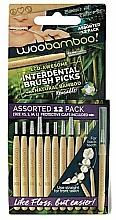 Парфюмерия и Козметика Комплект интердентални четки, 12 бр. - Woobamboo Toothbrush Interdental Brush Picks Assorted