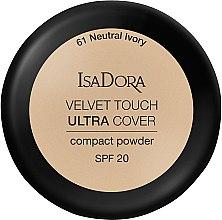Парфюмерия и Козметика Пудра за лице - IsaDora Velvet Touch Ultra Cover Compact Powder SPF 20