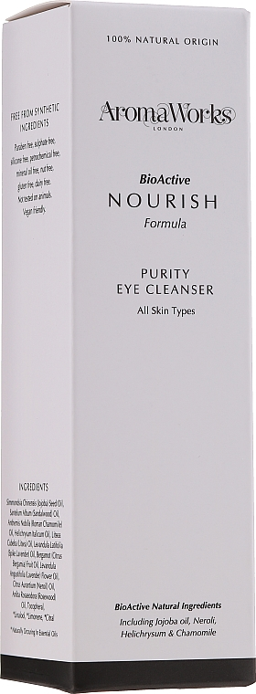 Почистващ лосион за очи - AromaWorks Nourish Purity Eye Cleanser — снимка N2