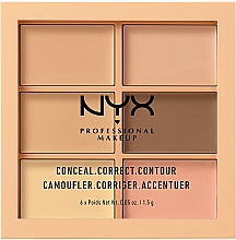 Парфюмерия и Козметика Контурираща палитра за лице - Nyx Palette Conceal Correct Contour
