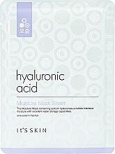 Парфюмерия и Козметика Хидратираща памучна маска за лице с хиалуронова киселина - It's Skin Hyaluronic Acid Moisture Mask Sheet