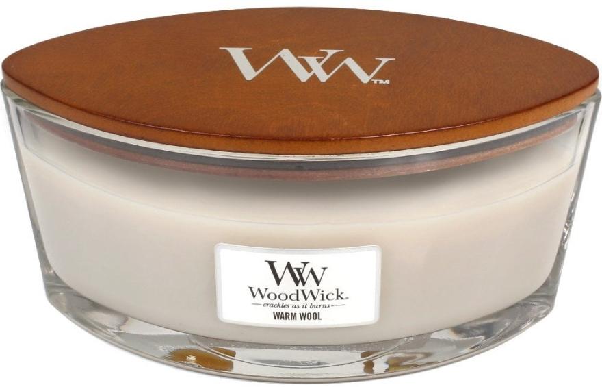 Ароматна свещ в чаша - WoodWick Hearthwick Flame Ellipse Candle Warm Wool — снимка N2