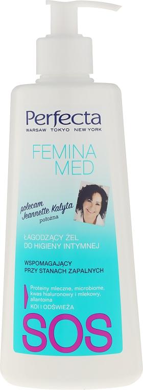 Успокояващ интимен гел при възпалителни състояния - Perfecta Femina Med SOS