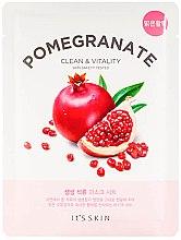 Парфюмерия и Козметика Памучна маска за лице - It's Skin The Fresh Pomegranate Mask Sheet