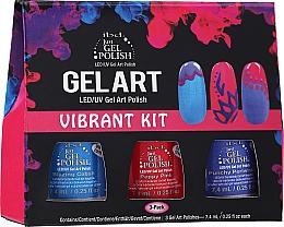 Парфюмерия и Козметика Комплект - IBD Gel Art Vibrant Kit (nail/lacquer/7,4mlx3)