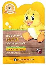 """Парфюмерия и Козметика Памучна маска за лице """"Пате - Belleza Castillo Edge Cutimal Duck Soothing Mask"""