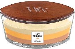 Парфюмерия и Козметика Ароматна свещ в чаша - WoodWick Golden Treats Ellipse Candle