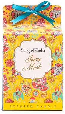 "Ароматна свещ ""Бял мускус"" - Song of India Ivory Musk Scented Candle — снимка N1"
