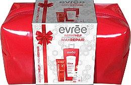 Парфюмерия и Козметика Комплект балсам за устни, крем за сухи ръце, балсам за тяло и чанта - Evree Max Repair (lip/balm/10ml + h/cr/75ml + balm/400ml + bag)