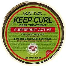 Парфюмерия и Козметика Маска за къдрава коса - Kativa Keep Curl Deep Treatment