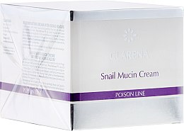 Парфюми, Парфюмерия, козметика Възстановяващ крем със секрет от охлюв - Clarena Poison Line Snail Mucin Cream