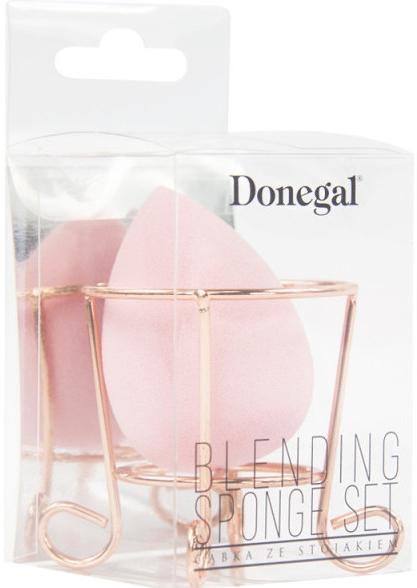 Гъба за грим с поставка, розова - Donegal