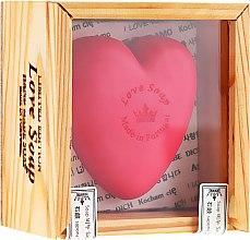 """Парфюмерия и Козметика Натурален сапун """"Сърце"""" в подаръчна кутия - Essencias De Portugal Love Soap Wooden Box"""