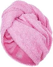 Парфюмерия и Козметика Кърпа-тюрбан за коса, розова - MakeUp