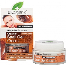 Парфюмерия и Козметика Гел-крем за лице с екстракт от охлюв - Dr. Organic Bioactive Skincare Snail Gel Cream