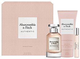 Парфюмерия и Козметика Abercrombie & Fitch Authentic - Комплект (парф. вода/100ml + лосион за тяло/200ml + парф. вода/15ml)