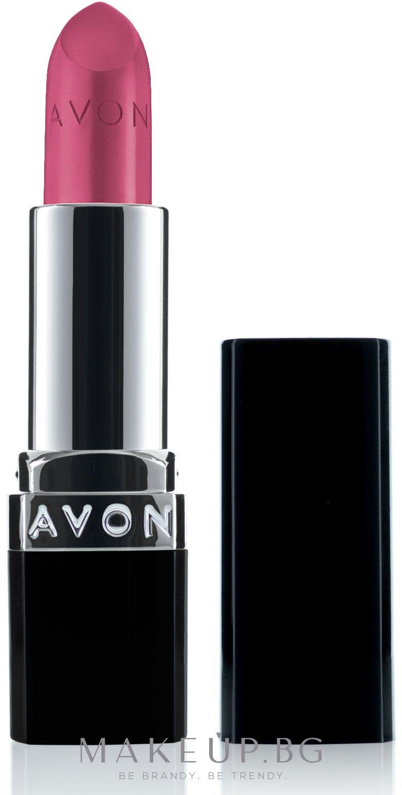 Матово червило - Avon True Colour Perfectly Matte Lipstick — снимка Adoring Love