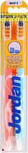 Парфюмерия и Козметика Комплект меки четки за зъби Advanced, цвят мента + светлорозова - Jordan Advanced Soft Toothbrush