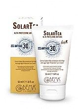 Парфюми, Парфюмерия, козметика Слънцезащитен крем за лице - Bema Cosmetici Solar Tea Anti-Age High Protection Sun Cream SPF30
