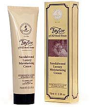 Парфюмерия и Козметика Овлажняващ крем за мъже - Taylor of Old Bond Street Sandalwood Moisturising Cream