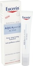 Парфюмерия и Козметика Регенериращ и хидратиращ околоочен крем - Eucerin AquaPorin Active Deep Long-lasting Hydration Revitalising Eye Cream