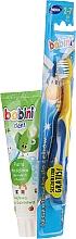 Парфюмерия и Козметика Комплект - Bobini (четка за зъби + паста за зъби/75ml)