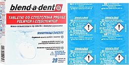 Парфюмерия и Козметика Почистващи таблетки за зъбни протези - Blend-A-Dent