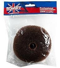 Парфюмерия и Козметика Гъба за кок , 11х4.5 см , кафява - Ronney Professional Hair Bun 050