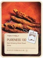 Парфюми, Парфюмерия, козметика Памучна маска за лице с екстракт от женшен - Tony Moly Pureness 100 Red Ginseng Mask Sheet