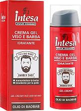 Парфюмерия и Козметика Гел-крем за лице и брада - Intesa Gel Cream Face And Beard