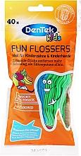 Парфюмерия и Козметика Детски конци за зъби, с плодов аромат - DenTek Kids Fruit Fun Flossers