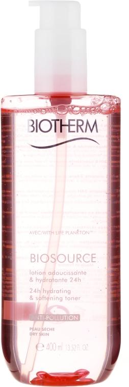 Комплект за суха кожа - Biotherm Biosource Regenerating (face/milk/400ml + face/lot/400ml) — снимка N4