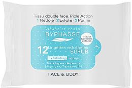 Парфюми, Парфюмерия, козметика Ексфолиращи кърпички за лице - Byphasse Exfoliating Wipes All Skin Type