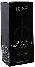 Парфюмерия и Козметика Кератинова терапия за изправяне на коса, силна - Keune Keratin Straightening Rebonding System Strong