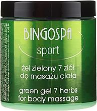 Парфюмерия и Козметика Масежен гел за тяло със 7 билки - BingoSpa Massage Gel With Seven Herbs