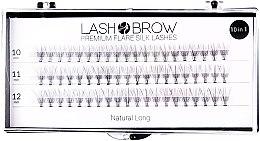 Парфюми, Парфюмерия, козметика Изкуствени мигли - Lash Brown Premium Flare Silk Lashes Natural Long