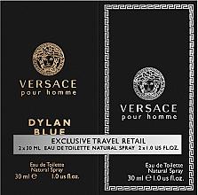 Парфюмерия и Козметика Versace Dylan Blue Pour Homme - Комплект (edt/30ml + edt/30ml)