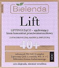 Парфюми, Парфюмерия, козметика Нощен укрепващ лифтинг крем против бръчки 40+ - Bielenda Lift Lifting and Firming Anti-wrinkle Cream–concentrate Night