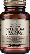 """Парфюмерия и Козметика Хранителна добавка """"Селен"""", таблетки - Solgar Selenium 200 mcg"""