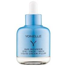 Парфюми, Парфюмерия, козметика Високоефективен течен крем против бръчки - Yonelle H2O Infusion Eye Face Neck Liquid Cream Filler