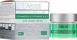 Парфюмерия и Козметика Крем против бръчки с церамиди и витамини A, E, F 40+ - Ava Laboratorium L'Arisse 5D Anti-Wrinkle Cream Ceramides + Vitamines