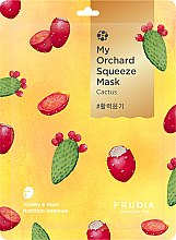 Парфюмерия и Козметика Витализираща памучна маска за лице с кактус - Fruida My Orchard Squeeze Mask Cactus