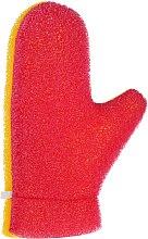 """Парфюмерия и Козметика Масажна ръкавица """"Aqua"""", 6021, жълто-розова - Donegal Aqua Massage Glove"""