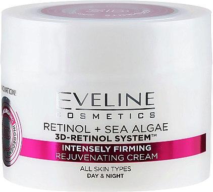 "Крем против стареене ""Интензивен лифтинг"" за всеки тип кожа - Eveline Cosmetics Retinol+Sea Algae Intensely Firming Rejuvenating Cream — снимка N2"